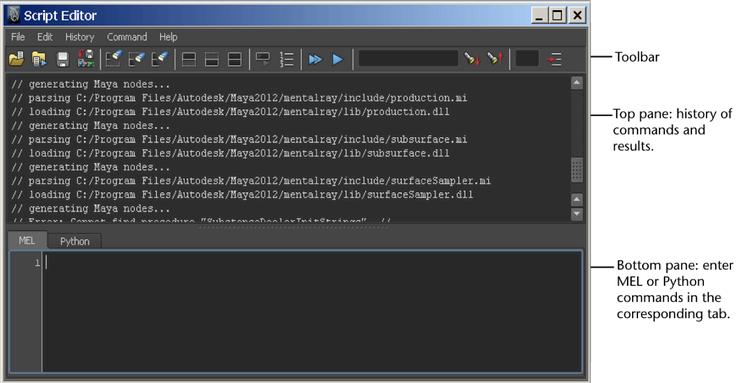 Maya User's Guide: Script Editor