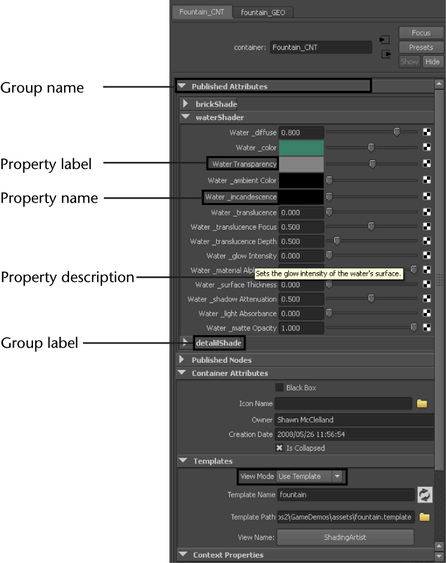 Customize a template view for Autodesk maya templates