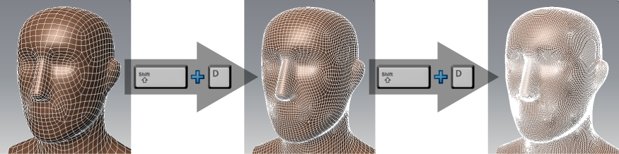 Mudbox Help: Mesh resolution and subdivision levels