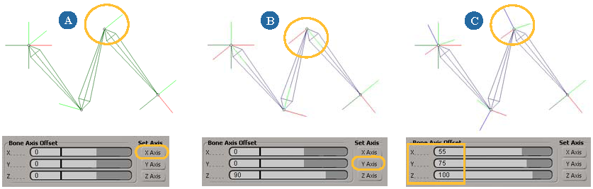 Softimage User's Guide: Changing the Bone's Axis Alignment for Mocap