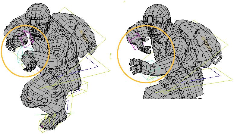 Softimage User Guide: Adjusting the Retargeted Animation on