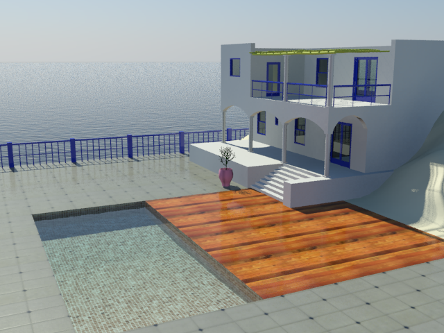 Create a material for the bottom of the swimming pool for Show parameter pool