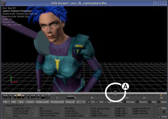 FBX Converter: FBX Viewer controls
