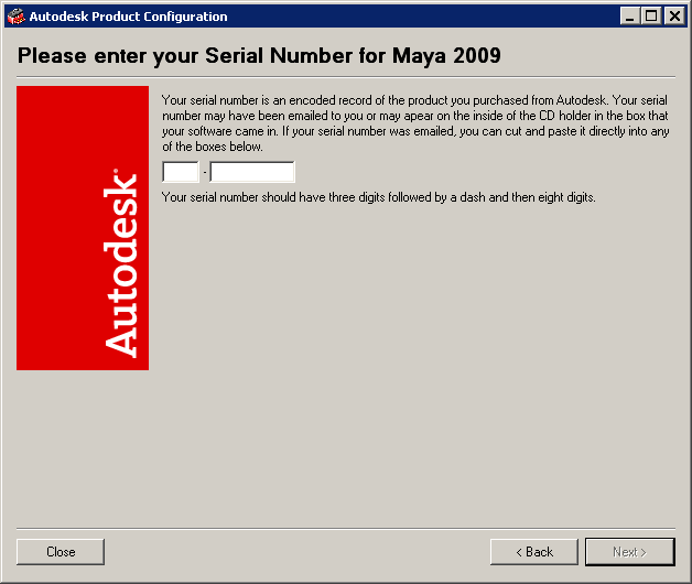 Autodesk maya online help: activating the software from a serial.