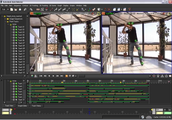 Autodesk MatchMover Online Help: Finalizing your motion capture project