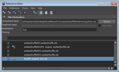 Maya Getting Started: Creating proxy references